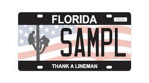 Lssc Thank A Lineman Plate
