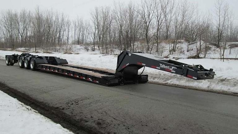 Talbert S 60cc 55sa Ld Trailer Provides Hauling Flexibility Trailer Body Builders