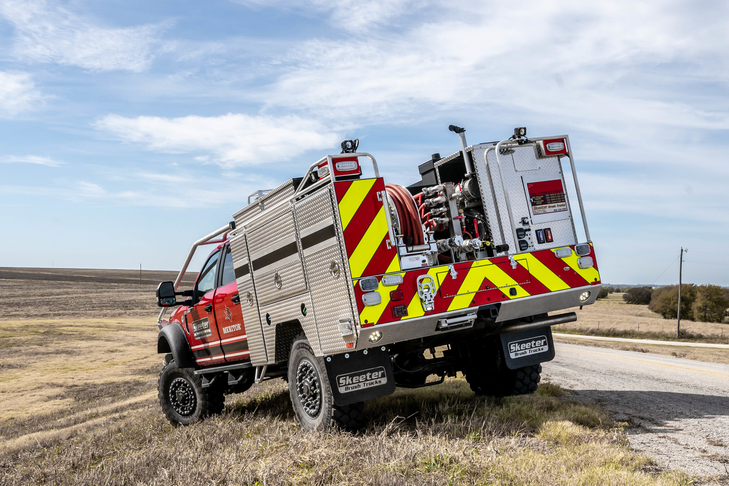 """Skeeter's goal is to build a vehicle to meet firefighting Type 3 standards (usually a Class 6-7 truck) based on a Class 5 pickup that could """"go places that those big trucks could only dream of going."""""""