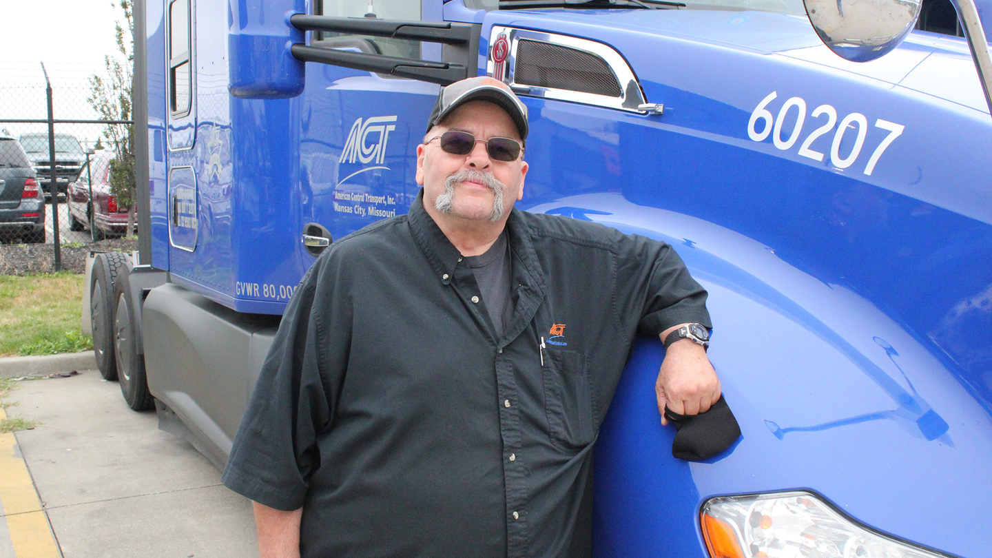 American Central Transport has made a concerted effort to offer better pay and work-life balance to its drivers, such as Robert Burge, one of the fleet's million-mile drivers.